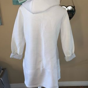 Betsey Johnson Jackets & Coats - Betsey Johnson White hooded Asymmetrical jacket